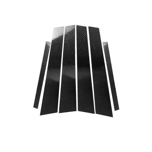 Carbon Fiber Interior Instrument Car Window B-pillars Frame Sticker Decorative Cover for BMW 3 Series E46 1998-2005