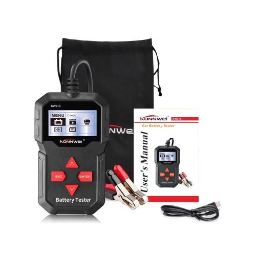 KONNWEI KW210 12 В Автомобильный Автомобильный Аккумуляторный Тестер Цифровой Многоязычный Анализатор Инструмент Тестер
