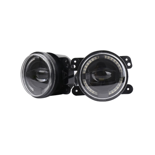 2pcs 30W 12V LED Car Fog Lights Driving Offroad Lamp Front Bumper Light Replacement for Jeep Wrangler 1997-2017