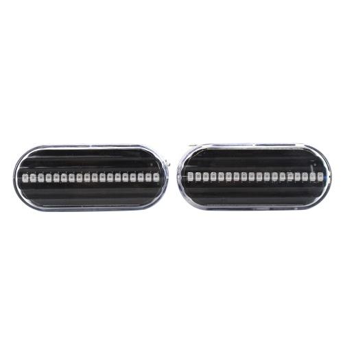 LED Side Marker Lights Lens Fender Turn Signal Light Lamp 1J0949117 Replacement for VW Golf 4 Bora Passat B5