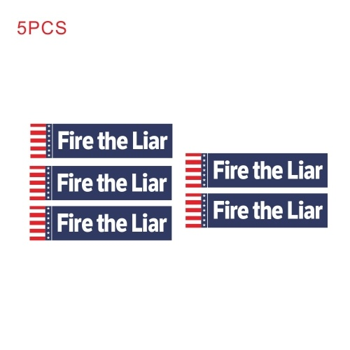 "Bumper Sticker Decal Car Body Sticker Anti-Trump -""Fire the Liar"" Bumper Sticker for President 2020 Decal United States Presidential Election, 5pcs"