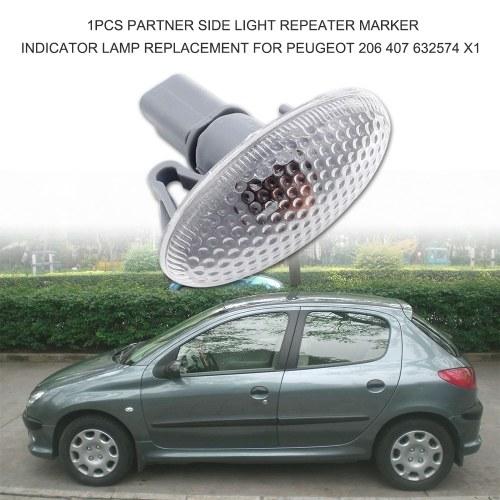 1PCS Partner Side Light Repeater Marker Indicador de reemplazo de la lámpara para Peugeot 206407 632574 X1
