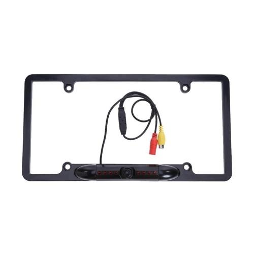 License Plate Frame Backup Camera Car Rear View Camera with 8 Bright LEDs 170° Wide Viewing Angle Night Vision Waterproof Infrared HD Camera