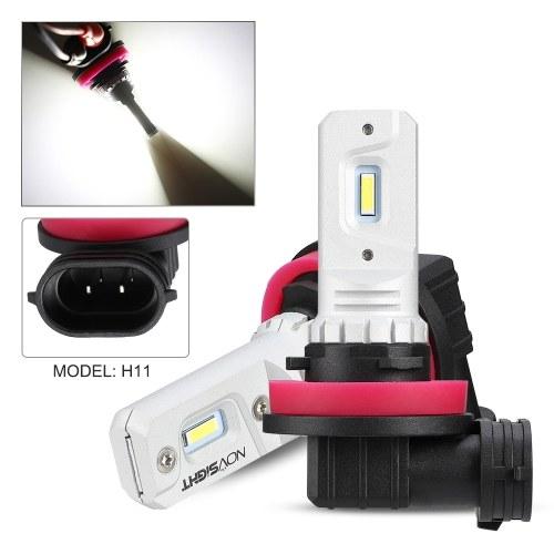 Car LED Fog lights 80W/Bulb Headlight Bulbs Kit 6000K White Running Light 1000LM/Bulb, Novsight H11, HID Decoder Fog Bulbs