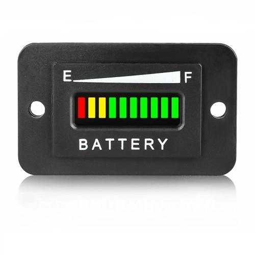 Водонепроницаемый индикатор заряда батареи 36 В, измеритель свинцово-кислотной батареи для квадроцикла, вилочный погрузчик, индикатор полевой тележки для клубного автомобиля