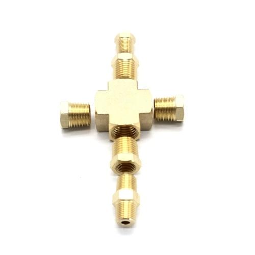 Adaptador Distribuidor Sensor de presión y temperatura del aceite 1/8 '' -27 Npt 1/4 ''