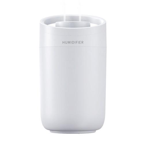 Humidificador USB 3L Humidificador portátil Mini purificador de aire Vaporizador Humidificador doméstico con dos boquillas de pulverización para el dormitorio de la oficina del coche