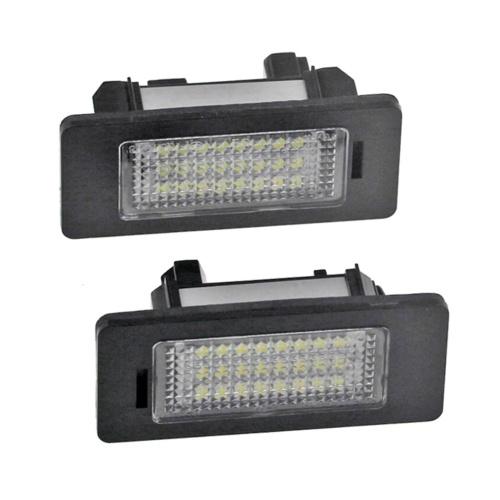 2 шт. Автомобильные светодиодные лампы для номерного знака 24 бусины белый свет номерной знак огни Замена лампы для номерного знака для BMW 1 3 5 X серии