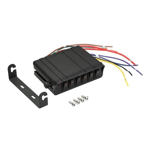 Controlador de caja de interruptor de encendido / apagado de 80 amperios Caja de interruptores basculantes de 20 A Caja de interruptores basculantes de 12 V SPST Panel