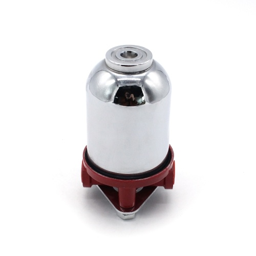 Filtro de combustible pequeño Acabado cromado Salida de entrada NPT de 3/8 pulg. De 10 micrones
