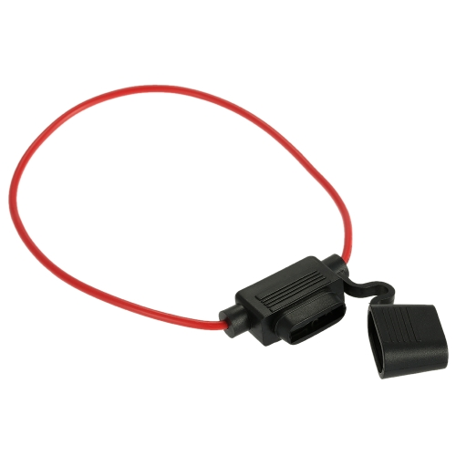 In Line Standard Blade Fuse Holder Splash Proof Car Automotive 12V 30A Fuses with Anti-dust Cover