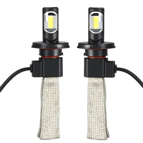 1 Pair of 36W 4000LM H13 COB Chip LED Headlight Fog Light 12V 24V Car Upgrade Replacement Bulb Beam Kit 6000K White