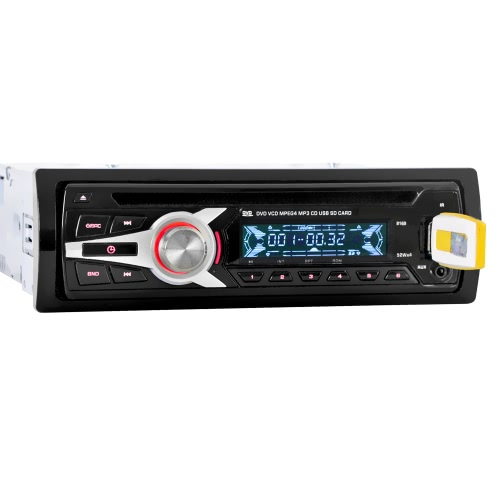 Universal Stereo Car Radio Player Audio CD DVD Lecteur MP3 avec FM Aux Port SD / USB d'entrée