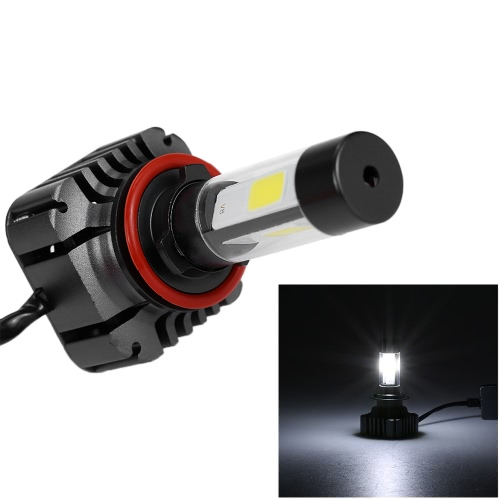 Par de 80W 9600LM H8 H9 LED H11 Farol nevoeiro COB All-In-One High Power Atualize Replacement Kit Bulb 6000K Branco