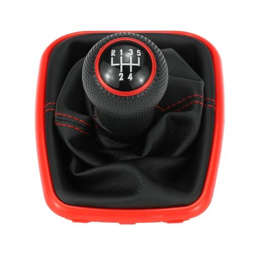 5 Speed Gear Shift Knob Gaitor Boot PU Leather for VW Golf Bora Jetta GTi MK4 1999-2004
