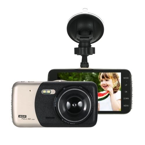 """KKmoon 4 """"Двойной объектив 1080P HD Автомобильный видеорегистратор Dash Cam Camera Camcorder"""