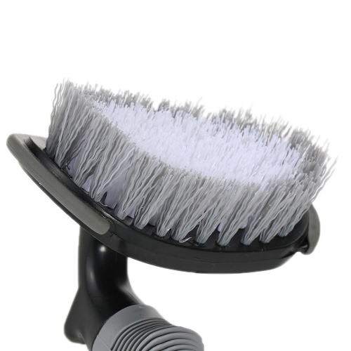 Car Auto Motorcycle Wheel Rims Tyre Brush Tire Cleaning Scrubbing Steel Wire Tool Dust Dirt Cleaner Wash Handle Hard Hair Bristle