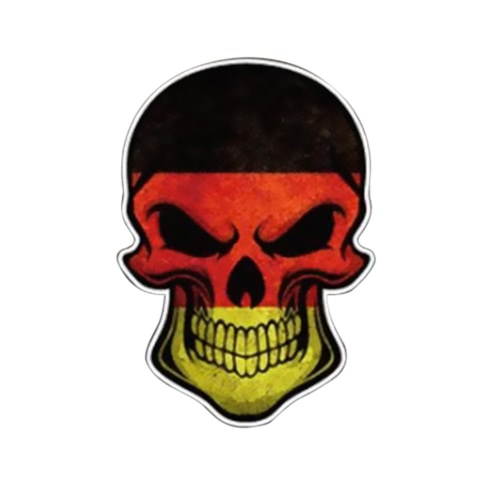 3D Stereoscopic Novel Funny Devil Skull Head Skeleton Flag Pattern Car Sticker Cover Waterproof Outdoor Window Reflective Sheeting Windshield Decal Rear Styling Auto Vehicle Exterior Decoration