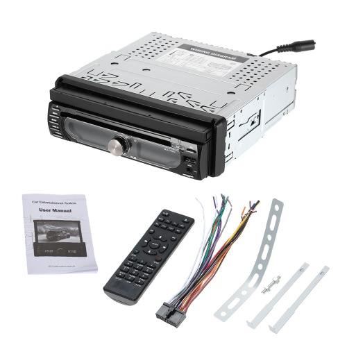 """7 """"Универсальное съемное автомобильное радио 1Din Audio Stereo Мультимедийный DVD-плеер Сенсорный экран BT AM / FM USB SD"""