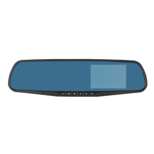KKmoon 4 '' 1080P FHD Двойной объектив Автомобильный видеорегистратор заднего вида Dash Cam Видеокамера фото