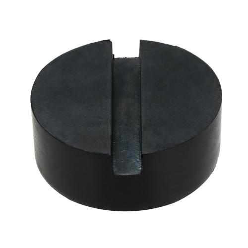 2 Stücke Schwarz DIY Auto SUV Schlitzrahmen Schiene Hydraulische Boden Jack Disk Rubber Pad
