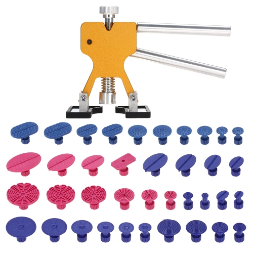 Car Body Paintless Dent Repair Tools Dent Puller Tabs 38 Pcs Glue Tabs Hail Removal Tool