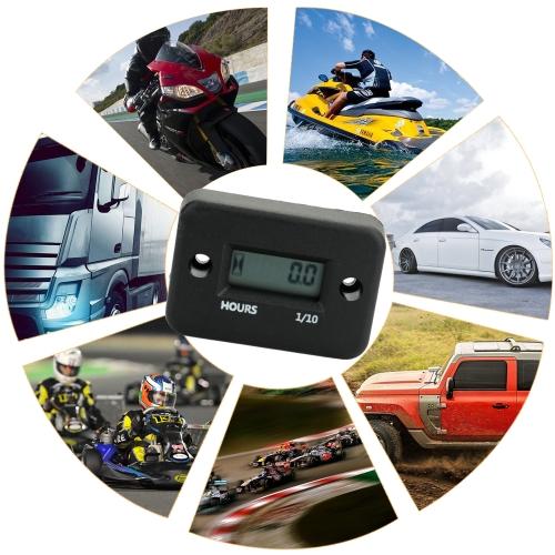 Wasserdichte LCD Digitalanzeige Motor Tach Stundenzähler Motor Sroke Motor Auto Motorrad Boot Tacho