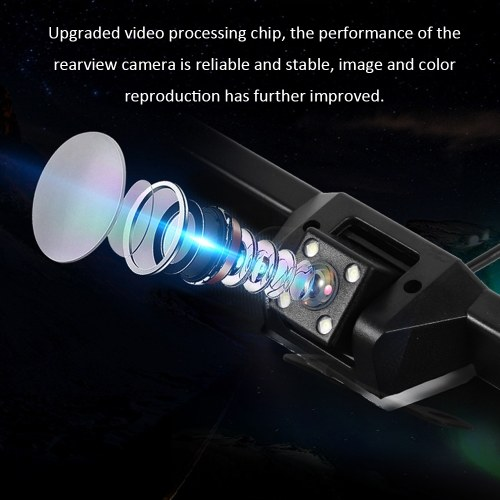 Rear View Camera CCD HD Universal European Reversing Camera License Plate Frames Night Vision with LED Car Camera Waterproof