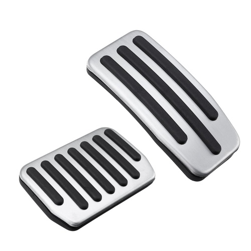 2 Stücke Rutschfeste Aluminiumlegierung Gaspedal Bremsfußpedal Pads für Tesla Modell 3