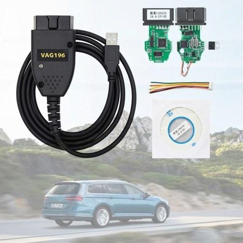 VAGCOM 19.6 USB Интерфейс Автомобиля Диагностика Неисправности Провода Авто Диагностический Инструмент фото