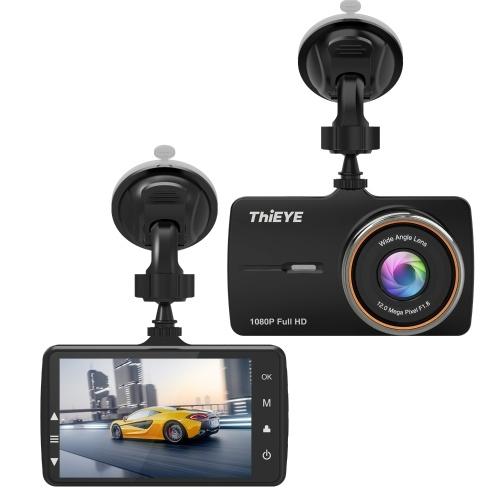ThiEYE 1080P FHD с двумя объективами Dash Cam Автомобильный видеорегистратор Автомобильный видеорегистратор Loop Recording G-ensor Парковочный монитор