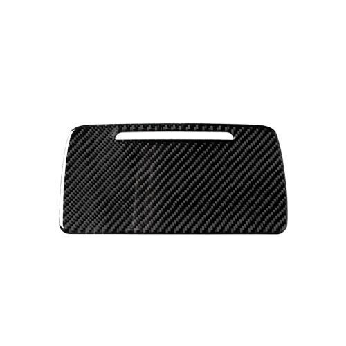 Panel de caja de almacenamiento de bandeja de ceniza de coche de etiqueta de fibra de carbono compatible con BMW F10 2011