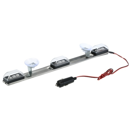 Car Interior Light Strip Truck Universal Vehicle Decorative Lamp 9 White LED 2 Meters Cable
