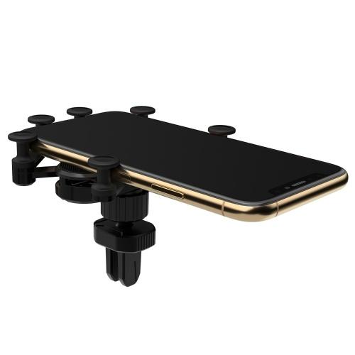 Supporto per telefono cellulare universale deformabile supporto per telefono auto per telefono in auto Air Vent (nero)