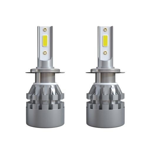 2Pcs Car LED Headlight Bulbs LED Driving Lamp All-in-one Conversion Kit H7 40W 6000LM 9V-36V