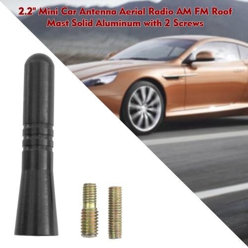 "Universal 4/"" inch Car Antenna AM FM Roof Antenna Solid Aluminium Black"