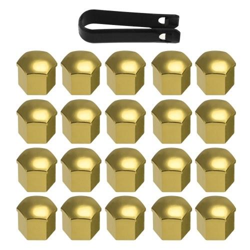 20pcs Cubiertas de tuerca de rueda universal Tapas de tuerca de seguridad Protector de tornillo