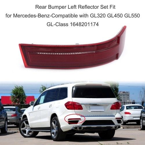 Juego de reflector izquierdo parachoques trasero apto para Mercedes-Benz-Compatible con GL320 GL450 GL550 Clase GL 1648201174