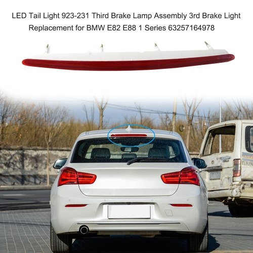 LED Tail Light 923-231 Third Brake Lamp Assembly 3rd Brake Light Replacement for BMW E82 E88 1 Series 63257164978