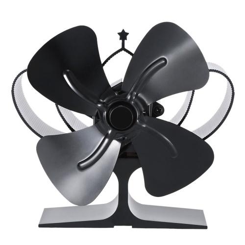 4-лопастной тепловой вентилятор для дровяной печи Мини-вентилятор для камина Воздуходувка для дров / дров / камин Экологичный вентилятор