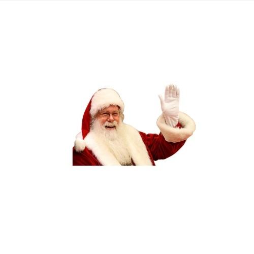 Car Window Stickers 2PCS 3D Cartoon Santa Car Window Cover Auto Covers Realistic Car Sticker Christmas Gift(Left & Right)