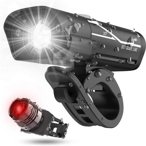 USB Rechargeable Bike Headlight and Back Light Set Image