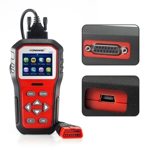 KONNWEI Universal OBDⅡ Scanner Automotive Diagnostic Tool Car Engine Fault Reader Erase/Reset Fault Codes Diagnostic Scanner