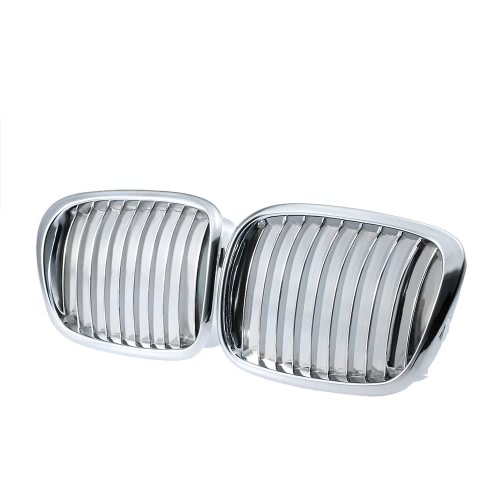 One Pair Silver Color Plating Front Kidney Grille Grill for BMW E39 1997-2003