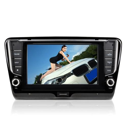"""Odtwarzacz DVD CASKA 8 """"HD z ekranem dotykowym Odtwarzacz DVD GPS Nawigacja + Radio + system multimedialny 2 Zestaw samochodowy Stereo Din dla firmy Skoda Octavia 2014"""