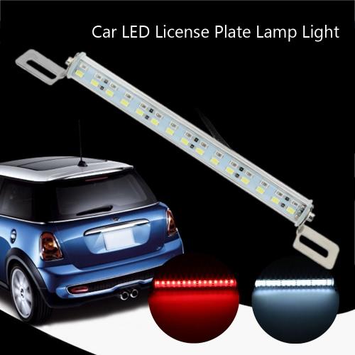 5630 30-SMD 12V Integrated Car LED License Plate Lamp Backup Brake Light White Red Bolt-on Adjustable Angle Tail Bulb Replacement