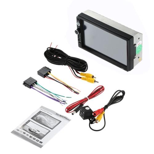 7-дюймовый универсальный 2 Din HD BT USB / TF FM-приемник автомобильного радио MP5-плеер Мультимедийный радиоприемник с камерой заднего вида HD