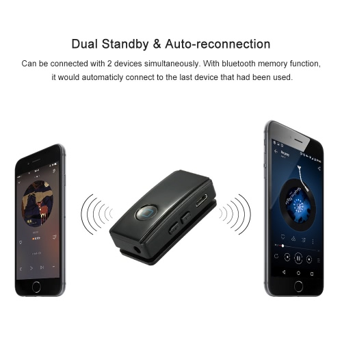 Mini Music Play Phone Call Bluetooth Audio Receiver Wireless 3 5mm Stereo  Output for Home Sound System Hands-Free Car Kit