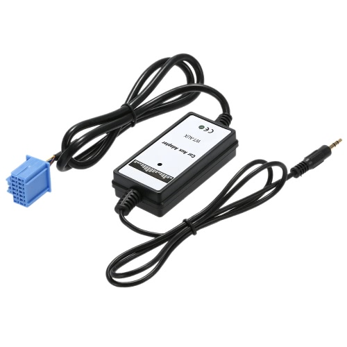 Jogador de MP3 do carro rádio áudio 3.5mm AUX no cabo adaptador para Accura Honda Accord Civic
