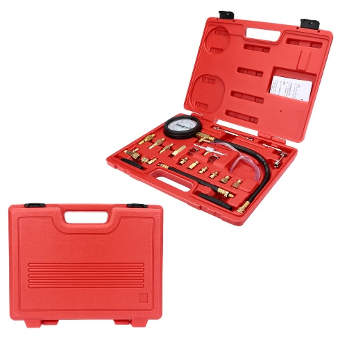 Fuel Injection Pump Pressure Tester Injector Pressure Gauge Gasoline Test 0-140psi